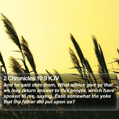 2 Chronicles 10:9 KJV Bible Verse Image