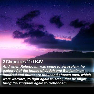 2 Chronicles 11:1 KJV Bible Verse Image