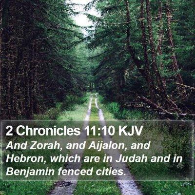 2 Chronicles 11:10 KJV Bible Verse Image