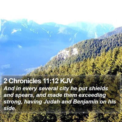 2 Chronicles 11:12 KJV Bible Verse Image