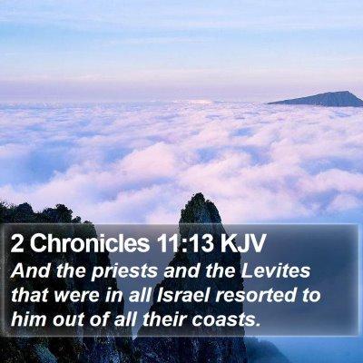 2 Chronicles 11:13 KJV Bible Verse Image