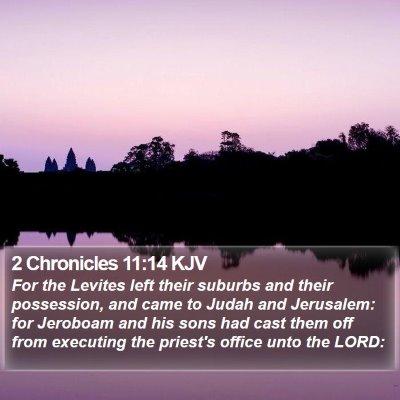 2 Chronicles 11:14 KJV Bible Verse Image