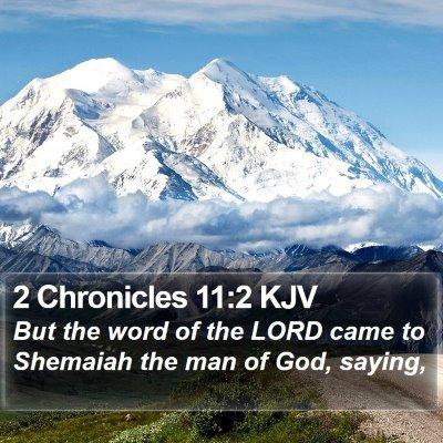 2 Chronicles 11:2 KJV Bible Verse Image