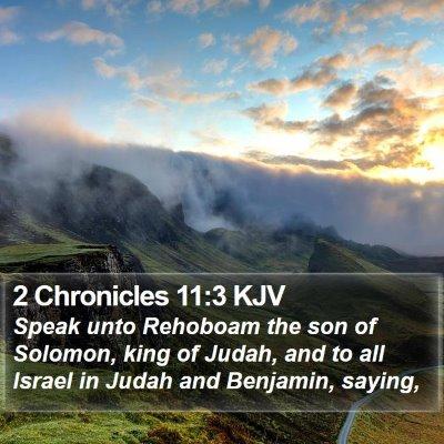 2 Chronicles 11:3 KJV Bible Verse Image
