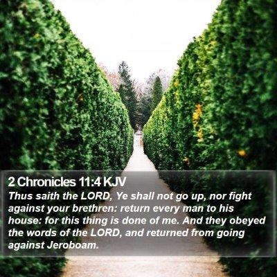 2 Chronicles 11:4 KJV Bible Verse Image