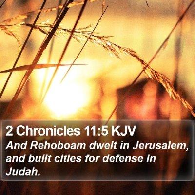2 Chronicles 11:5 KJV Bible Verse Image