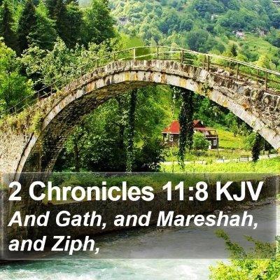 2 Chronicles 11:8 KJV Bible Verse Image