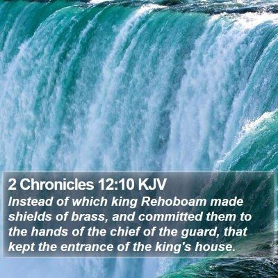 2 Chronicles 12:10 KJV Bible Verse Image