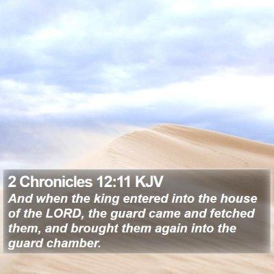 2 Chronicles 12:11 KJV Bible Verse Image