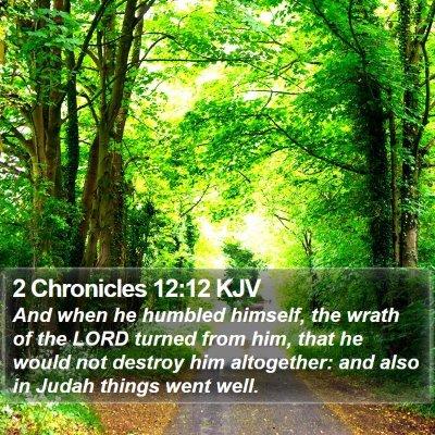 2 Chronicles 12:12 KJV Bible Verse Image