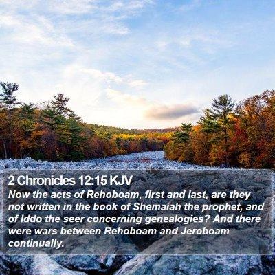 2 Chronicles 12:15 KJV Bible Verse Image
