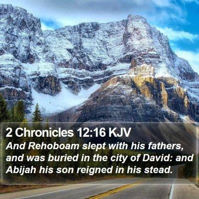 2 Chronicles 12:16 KJV Bible Verse Image