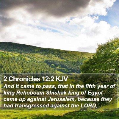 2 Chronicles 12:2 KJV Bible Verse Image