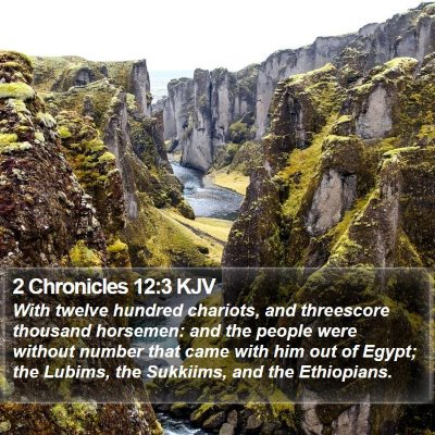 2 Chronicles 12:3 KJV Bible Verse Image
