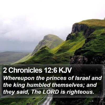 2 Chronicles 12:6 KJV Bible Verse Image