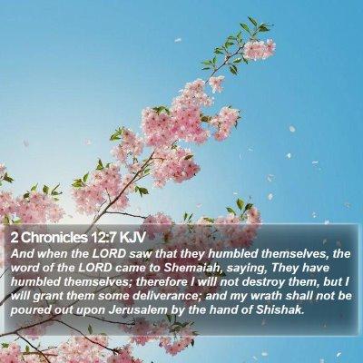 2 Chronicles 12:7 KJV Bible Verse Image