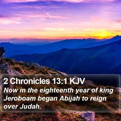 2 Chronicles 13:1 KJV Bible Verse Image