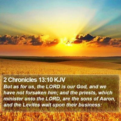 2 Chronicles 13:10 KJV Bible Verse Image
