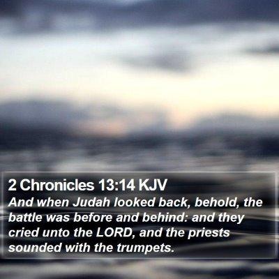 2 Chronicles 13:14 KJV Bible Verse Image