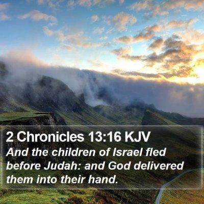 2 Chronicles 13:16 KJV Bible Verse Image