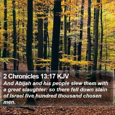 2 Chronicles 13:17 KJV Bible Verse Image