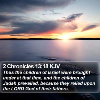 2 Chronicles 13:18 KJV Bible Verse Image
