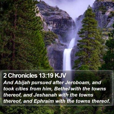 2 Chronicles 13:19 KJV Bible Verse Image