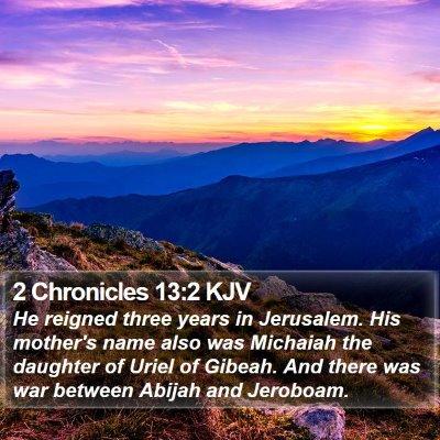 2 Chronicles 13:2 KJV Bible Verse Image