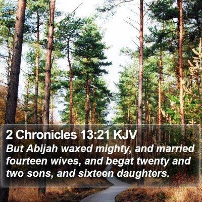 2 Chronicles 13:21 KJV Bible Verse Image