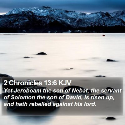 2 Chronicles 13:6 KJV Bible Verse Image