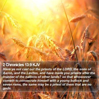 2 Chronicles 13:9 KJV Bible Verse Image