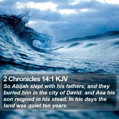 2 Chronicles 14:1 KJV Bible Verse Image
