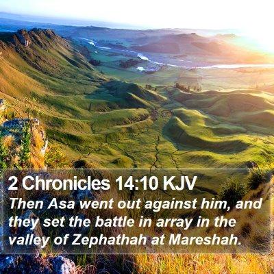 2 Chronicles 14:10 KJV Bible Verse Image