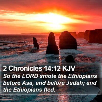 2 Chronicles 14:12 KJV Bible Verse Image