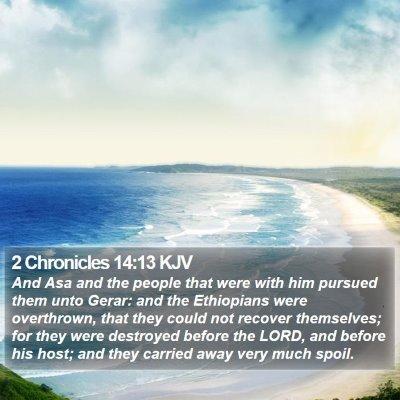 2 Chronicles 14:13 KJV Bible Verse Image