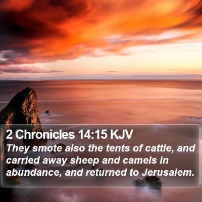2 Chronicles 14:15 KJV Bible Verse Image