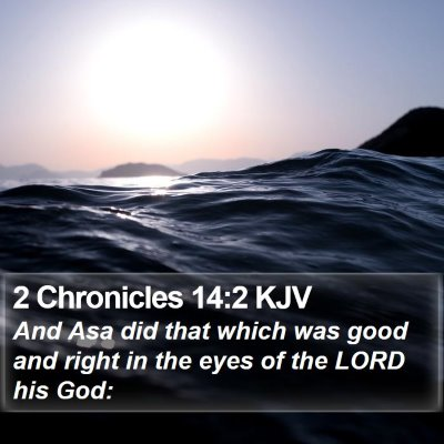 2 Chronicles 14:2 KJV Bible Verse Image