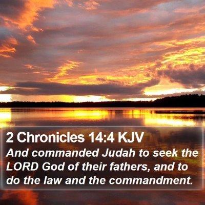2 Chronicles 14:4 KJV Bible Verse Image