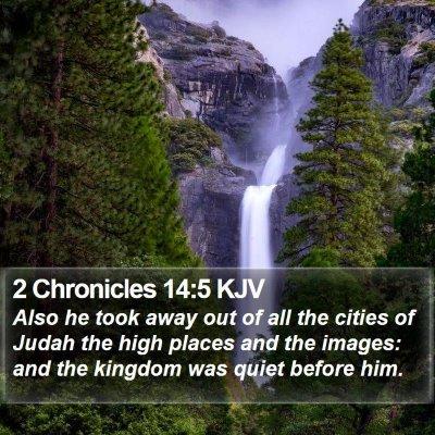 2 Chronicles 14:5 KJV Bible Verse Image