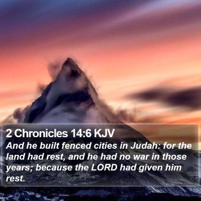 2 Chronicles 14:6 KJV Bible Verse Image