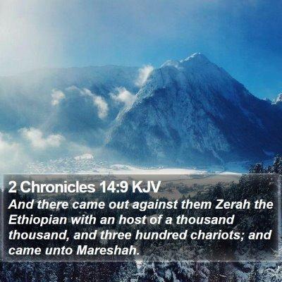 2 Chronicles 14:9 KJV Bible Verse Image