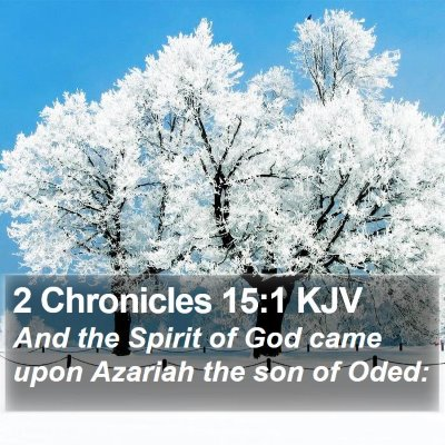 2 Chronicles 15:1 KJV Bible Verse Image