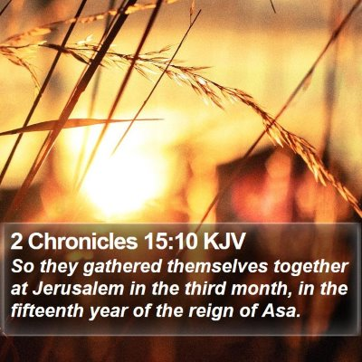 2 Chronicles 15:10 KJV Bible Verse Image