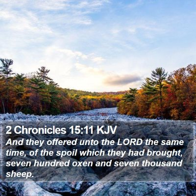 2 Chronicles 15:11 KJV Bible Verse Image