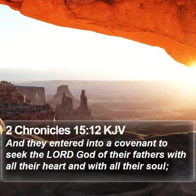 2 Chronicles 15:12 KJV Bible Verse Image