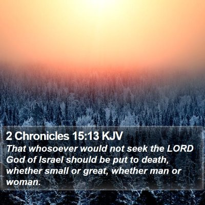 2 Chronicles 15:13 KJV Bible Verse Image