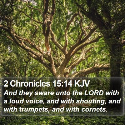 2 Chronicles 15:14 KJV Bible Verse Image