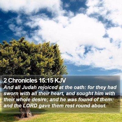 2 Chronicles 15:15 KJV Bible Verse Image