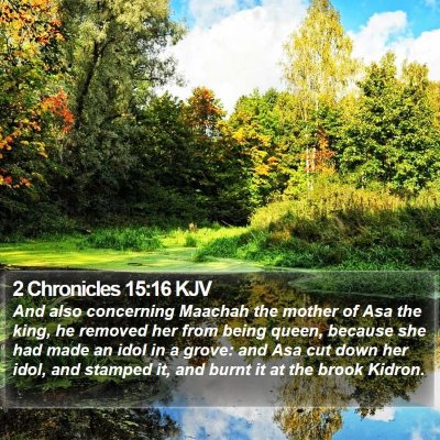 2 Chronicles 15:16 KJV Bible Verse Image