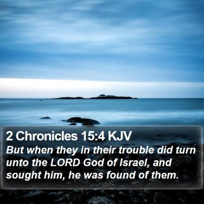 2 Chronicles 15:4 KJV Bible Verse Image